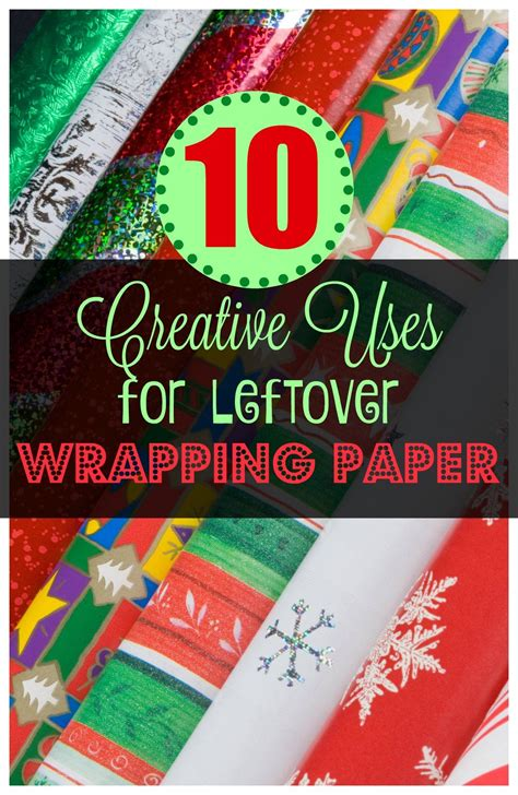 creative   leftover wrapping paper xmas