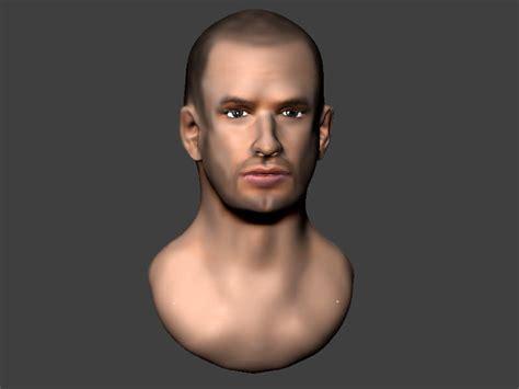 Man Head 3D Model 3D printable .obj .ztl - CGTrader.com