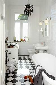 vous cherchez des idees pour un carrelage noir et blanc With carrelage salle de bain vintage