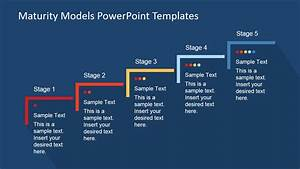 Five Step Maturity Model For Business Powerpoint Template