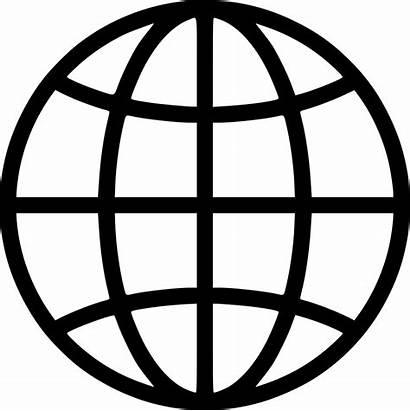 Globe Vector Svg Icon Line Earth Symbol