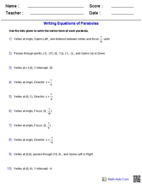 From Vertex Form To Standard Form Worksheet Breadandhearth