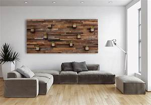 Creative ideas for your own reclaimed wood wall art for What kind of paint to use on kitchen cabinets for big metal wall art