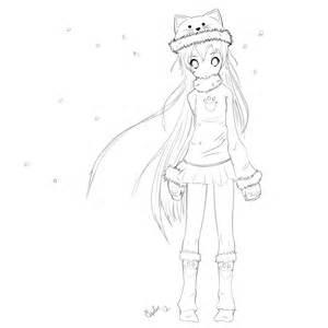 Cute Anime Girl Drawing