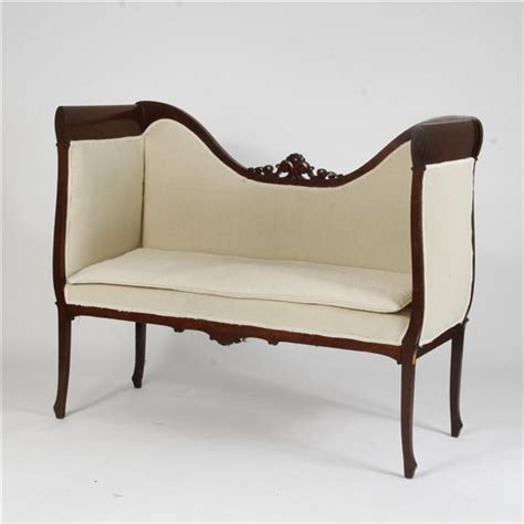 Settee Bench With Back by High Back Settee Bench Sofa With Carved Detail