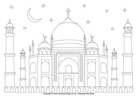 eid colouring page