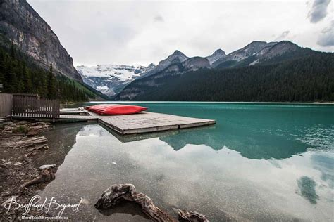 Lake Louise Boat Rental by Canoeing On The Turquoise Waters Of Lake Louise