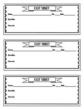 exit ticket template lavancorg