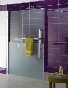 17 idees a propos de salle de bains prune sur pinterest With porte de douche coulissante avec carrelage salle de bain metro parisien