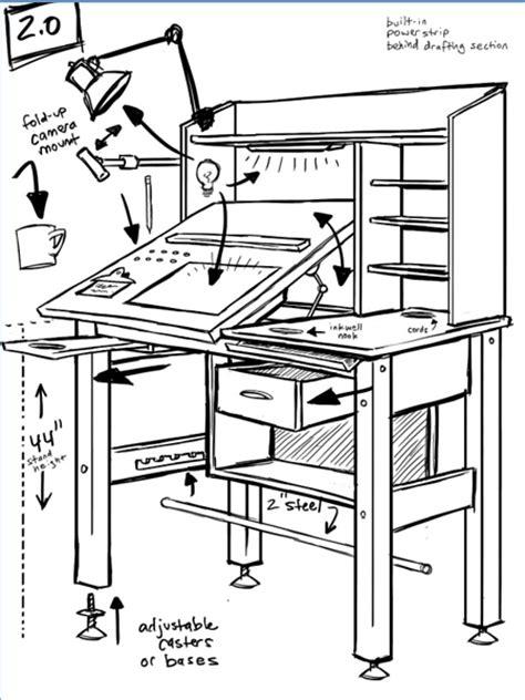 drafting table design plans diy blueprint plans