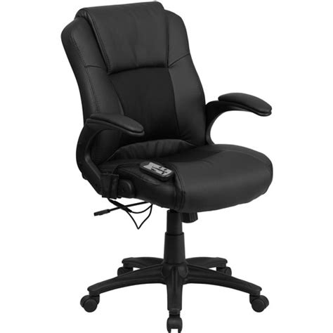 Office Chairs At Walmart by Flash Furniture Massaging Leather Executive Office Chair