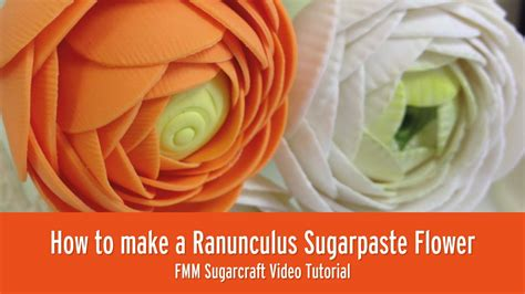 How To Make Fall Decorations At Home: How To Make A Ranunculus Sugar Flower