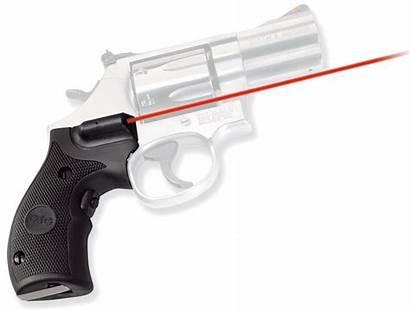 Laser Frame Butt Crimson Trace Round Grip