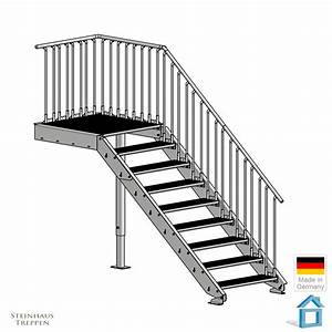 Beläge Für Treppenstufen Innen : aussentreppe f r 180 cm an schmalen eing nge mit wenig ~ Michelbontemps.com Haus und Dekorationen