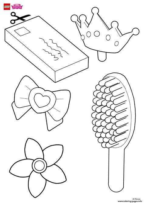 decorate rapunzels hair accessories lego disney coloring pages printable