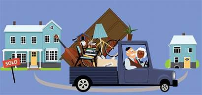 Moving Senior Seniors Downsize Into Couple Belongings