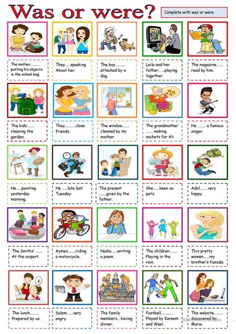was or were worksheet free esl printable worksheets