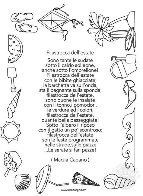 filastrocca dellestate da stampare tuttodisegnicom