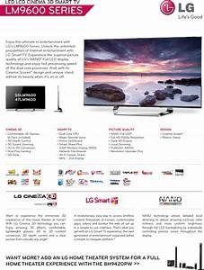 Lg 55lm9600 User Manual Specification Tv Lcd Lm9600 Spec