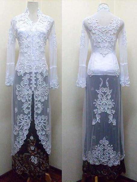 gambar model baju kebaya pengantin elegan  modern
