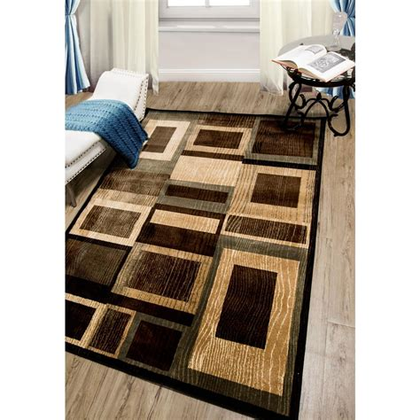 black and brown rug home dynamix bazaar gal black brown 5 ft 2 in x 7 ft 2