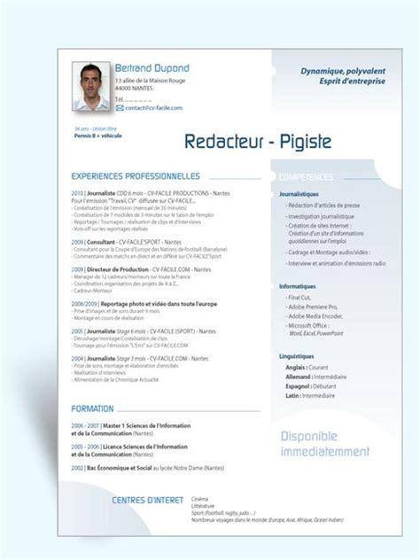 Exemple De Mise En Page Cv by Modele Cv Mise En Page Originale 55 Mod 232 Le
