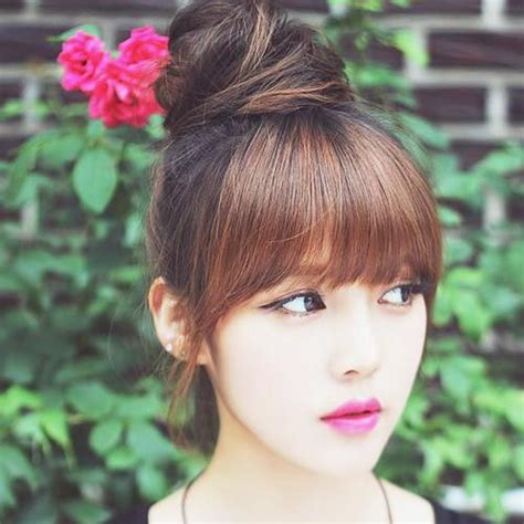 korean bun ideas  pinterest  style hair