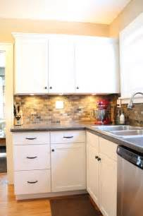slate backsplash kitchen small kitchen remodel featuring slate tile backsplash remodelaholic