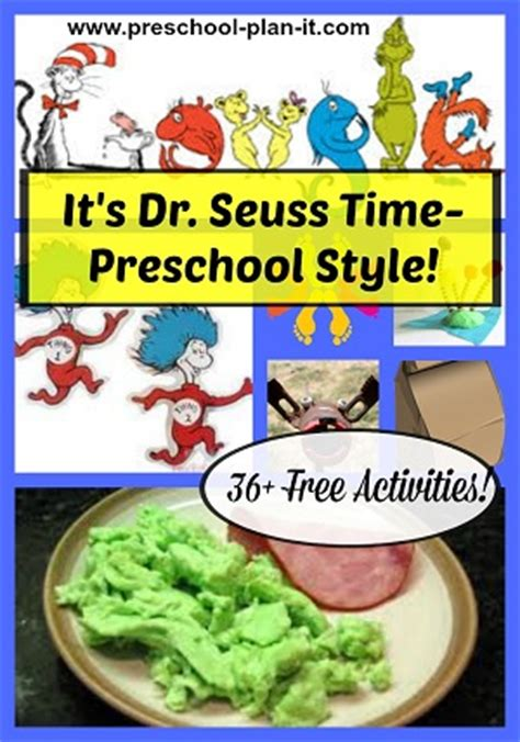 preschool dr seuss lesson plans dr seuss theme for preschool 809