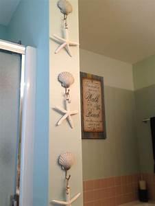 beach bathroom decorbeach shell hooks from kohl39s and With beachy bathroom accessories