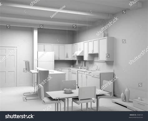 Modern Bedroom Interior Design Computer Generated Image by Blank Modern Kitchen Interior Design Computer Generated