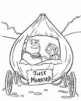 Coloring Pages Disney Marriage Popular sketch template