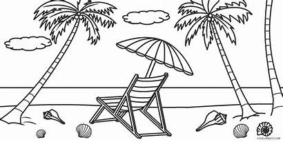 Coloring Colorear Printable Dibujos Playas Waves Playa
