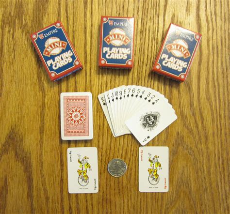We did not find results for: 3 NEW DECKS OF MINI PLAYING CARDS MINITURE PLASTIC COATED TINY POKER CARD DECK   eBay