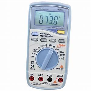 5 In 1 Digital Multimeter  Integrated Light  Sound