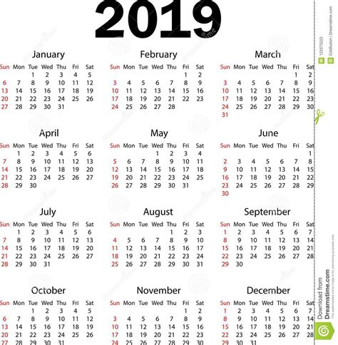 calendario illustrazione vettore illustrazione vettoriale