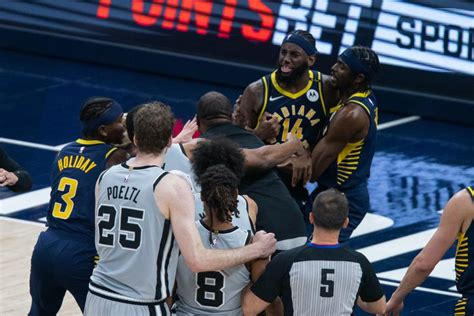 Pacers' Sampson Suspended One Game; Spurs' Mills, Gay ...