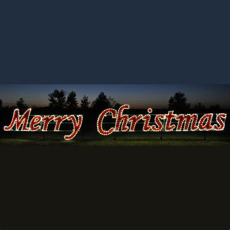large lighted outdoor merry christmas sign sold in houston tx 42 white merry commercial led light display