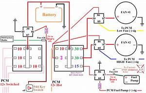3 Relay Cooling Fan Wiring - -