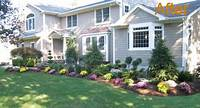 landscape ideas for front of house Ideas for a slope: Front lawn landscaping ideas questionnaire template