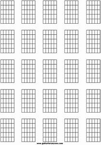 Top Printable Blank Guitar Chord Chart