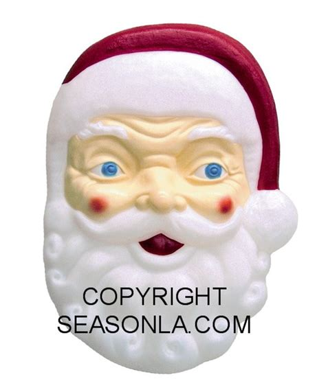 plastic light  santa face illuminated outdoor plastic