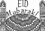Eid Card Colour Ramadan Cards Colouring Coloring Masjid Mubarak Pages Islamic Ramadhan Muslimahbloggers Ul Printables Crafts Printable Muslim Activities Fitr sketch template