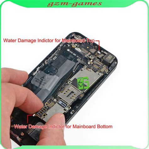 iphone 5s water damage indicator liquid contact indicator water damage sticker waterproof