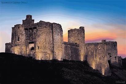 Castle Castles Wales Ruined Kidwelly Across Crumbling
