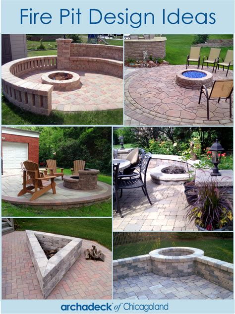 pit design ideas fire pit design ideas outdoor living with archadeck of chicagoland