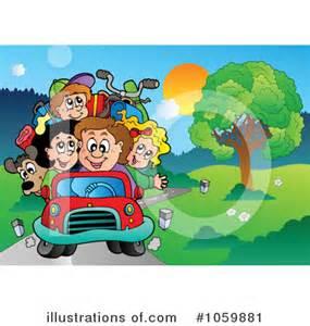Family Vacation Cartoon Clip Art