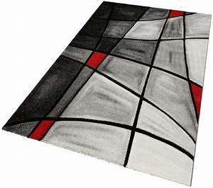 Teppich Rot Grau : teppich doubs merinos handgearbeiteter konturenschnitt gewebt online kaufen otto ~ Whattoseeinmadrid.com Haus und Dekorationen