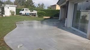 terrasse en beton ma terrasse With terrasse en beton prix