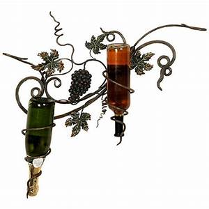 woodland imports corsica grapes leaves metal 2 bottle With best brand of paint for kitchen cabinets with wine bottle wall art